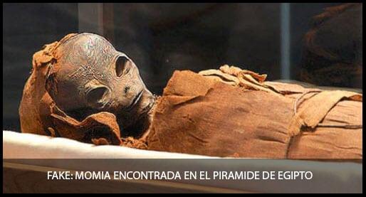 """Existen los extraterrestres """"momia encontrada en el pirámide de Egipto"""""""