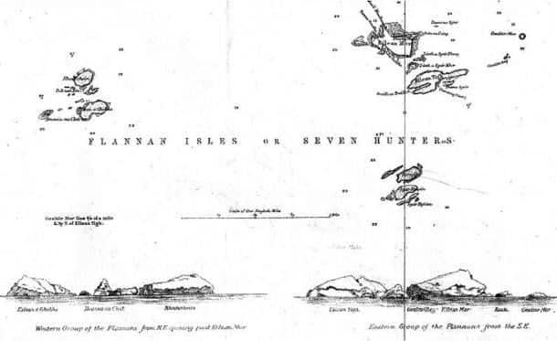 Ubicación de la Islas de Flanann