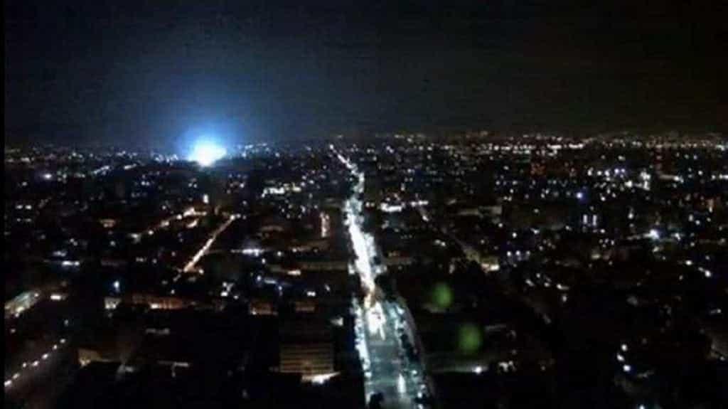 Extrañas luces en la ciudad de México
